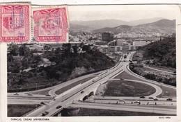 CARACAS. CIUDAD UNIVERSITARIA. FOTO RIFRA. CIRCULEE 1955 A BUENOS AIRES TIMBRE ARRACHE - BLEUP - Venezuela