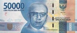 Indonesia 50.000 Rupiah, P-159a (2016) - UNC - Indonesia
