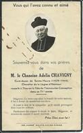 Sainte-Maure-de-Touraine-Avis De Décès De M.le Chanoine Adelin Chavigny (Cornée Sur 3 Angles,légère Coupure Bas Centre) - Décès
