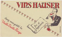 Buvard VINS HAUSER - Buvards, Protège-cahiers Illustrés