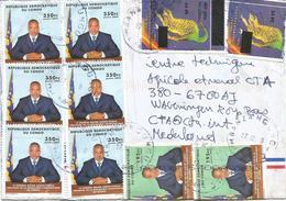 DRC Congo 2009 Mbanza Ngungu President Kabila Overprint Prehistory Scutellosaurus 25 FC Cover - Brieven