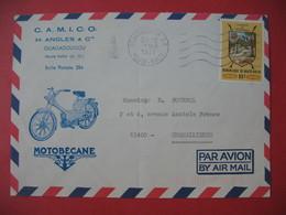 Enveloppe  Motobécane  1977 Camico H. Angles & Cie  Ouagadougou Haute Volta Pour La France - Motorbikes