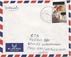 DRC Congo 2001 Kamina Mushroom 50FC Overprint Cover Via Lusaka Zambia - Democratische Republiek Congo (1997 - ...)