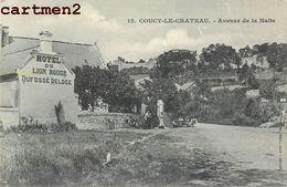 COUCY-LE-CHATEAU AVENUE DE LA HALTE HOTEL DU LION ROUGE DUFOSSE DELOGE 02 - France