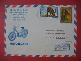 Enveloppe  Motobécane  1982 Camico H. Angles & Cie  Ouagadougou Haute Volta Pour La France - Motos