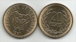Colombia 20 Pesos 1991. High Grade - Colombia