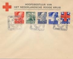 Nederland - 1927 - Red Cross - Rode Kruis Serie Met Dierentuinstempel (deels 1e Dag / FDC) Op Cover - Niet Gelopen - Brieven En Documenten