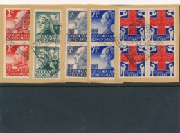 Nederland - 1927 - Red Cross - Rode Kruis Serie In Blok Van 4 Met Dierentuinstempel Op Papier - Period 1891-1948 (Wilhelmina)