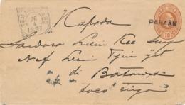 Nederlands Indië - 1897 - 10 Cent Envelop Van L PARAÄN Via VK TEMANGGOENG En MAOS Naar Batavia - Niederländisch-Indien