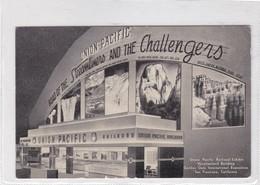 UNION PACIFIC RAILROAD EXHIBIT VACATIONLAND BUILDING, SAN FRANCISCO CA. CPA CIRCA 1950s - BLEUP - San Francisco