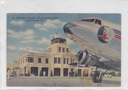 MUNICIPAL AIRPORT , ADMINISTRATION BLDG. JACKSONVILLE, FLA. . CT ART COLORTONE. CPA VOYAGEE CIRCA 1950s - BLEUP - Jacksonville