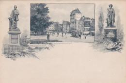 183879Amsterdam, Rembrandtplein Rond 1900 Zie Paardentram (minuscule Vouwen In De Hoeken) - Amsterdam