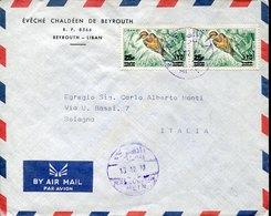 44708 Liban,  Circuled Cover 1972 To Italy - Liban