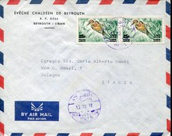 44708 Liban,  Circuled Cover 1972 To Italy - Líbano