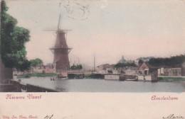 185021Amsterdam,  Nieuwe Vaart Met Molen De Goyer (poststempel 1905) - Amsterdam