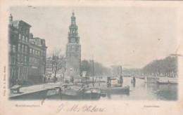 1850127Amsterdam, Montalbaanstoren (poststempel 1900)(rechterkant Een Scheurtje) - Amsterdam