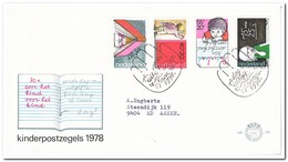 Nederland 1978, FDC 170, Children Stamps - FDC