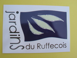 16 Ruffec Jardins Du Ruffecois Carte Pub - Ruffec
