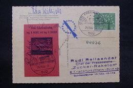 ALLEMAGNE - Carte Postale Par Fusée En 1962 , Voir Cachet, Vignette Et Signatures - L 28375 - Briefe U. Dokumente