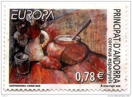 Andorra 2005 Europa CEPT - Food   Usagée (used , Circular)  (lOT - 2 - 140) - Andorre Espagnol