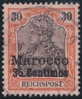 Deutsches  Reich   Marokko    .   Michel    .     12      .       O       Gebraucht - Deutsche Post In Marokko