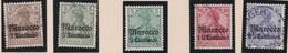 Deutsches  Reich   Marokko    .   Michel    .     21/24       .       O       Gebraucht - Bureau: Maroc