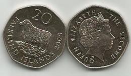 Falkland Islands 20 Pence 2004. High Grade - Falkland Islands