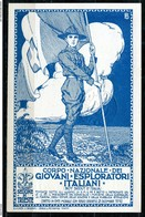 CARTOLINA - CV2700 SCOUT LOTTERIA Corpo Nazionale Giovani Esploratori, Sez. Trieste, Grande Lotteria 1923, FP, Non Viagg - Scouting