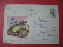 Entier Postal  Moto   Roumanie  1967 - Motos