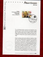 """"""" ALBERT EINSTEIN """" Sur Notice Officielle 1er Jour De 2005. N° YT 3779. Parfait état. - Albert Einstein"""