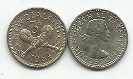 New Zealand 3 Pence 1964. High Grade - New Zealand