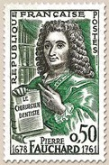 N° 1307 Pierre Fauchard, Faciale 0,50 F - Ungebraucht