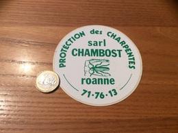 AUTOCOLLANT, Sticker «PROTECTION Des CHARPENTES - Sarl CHAMBOST - ROANNE (42)» (insecte) - Aufkleber