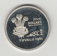 5 DOLLARS 1981 ARGENT - Tuvalu