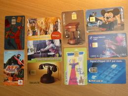 LOT 10 TELECARTES DIFFERENTES. - Phonecards