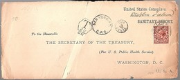1919 Postage Due Unites States Consulate Dublin Ireland (front Only) Saniitary Report  To Washington  (491) - Ierland