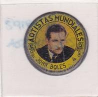 JOHN BOLES ARTISTAS MUNDIALES CHAPITA MEDALLA CIRCA 1950s - BLEUP - Otros