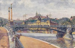 PRAHA PRAGUE. PONT DE SVATOPLUK CECH. EDIT F J JEDLICKA. CPA CIRCA 1950s - BLEUP - República Checa