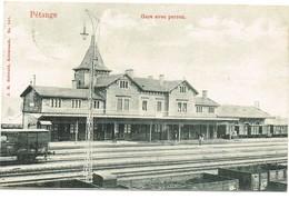 Luxembourg - Pétange. La Gare Avec Perron. édit Bellwald, Datée 1907. Tb état. - Pétange