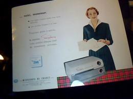 """Publicitè Ancienne Tract """" Machine Secretary Marque  MIESOTA De France Usine Thermo/fax Paris Bd Serrurier Annèe 50?? - Advertising"""
