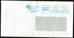 France EMA Empreinte Postmark Greffe Du Tribunal De Commerce Antibes 06 - Poststempel (Briefe)
