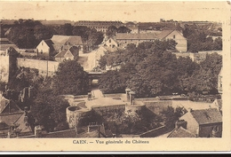 CAEN Vue Générale Du Chateau 1936 Cachet Foire Exposition - Caen