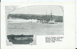FALKLAND - H.M.S. .NYMPHE In STANLEY HARBOUR - Falkland