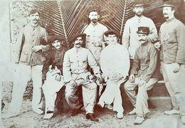 MADAGASCAR DIEGO SUAREZ INFIRMIER HOPITAL MILITAIRE MILITARIA BEAU CLICHE DE GROUPE 1900 ANCIENNE PHOTO COLONIE - Guerre, Militaire