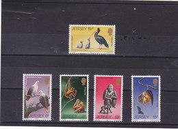 JERSEY 1979 ANIMAUX Yvert 201-205 NEUF** MNH - Jersey