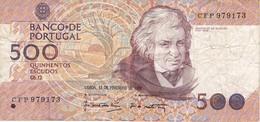BILLETE DE PORTUGAL DE 500 ESCUDOS  DEL AÑO 1992 (BANKNOTE-BANK NOTE) - Portugal