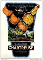 Original-Anzeige / Publicité 1957 - (en Français) CHARTREUSE - Ca. 200 X 270 Mm - Werbung