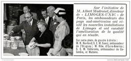 Original-Anzeige / Publicité 1957 - (en Français) LIMOGES - UNIC PORCELAINE  - Ca. 90 X 40 Mm - Werbung