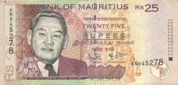 BILLET MAURICE 25 TWENTY FIVE RUPEES - Maurice