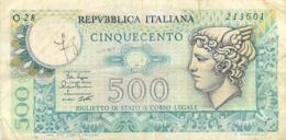 BILLET  ITALIE  500  LIRE - Italie